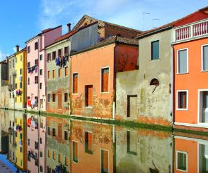 Houses next to the Canale in Chioggia
