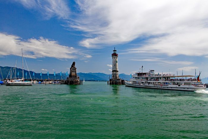 Ship in the port of Lindau