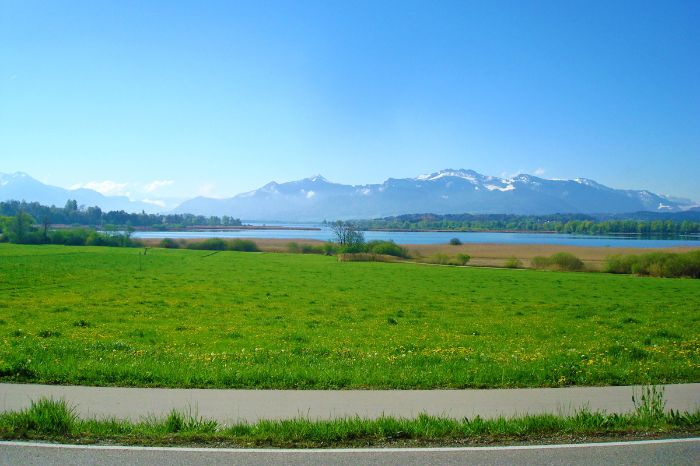 Alpenpanorama am Chiemsee