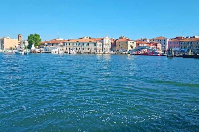 View from the sea to Chioggia