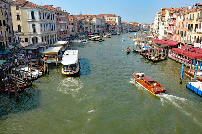 View over a sewer in Venice