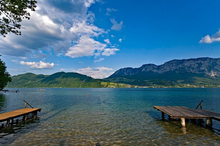 Boardwalks at Lake Attersee