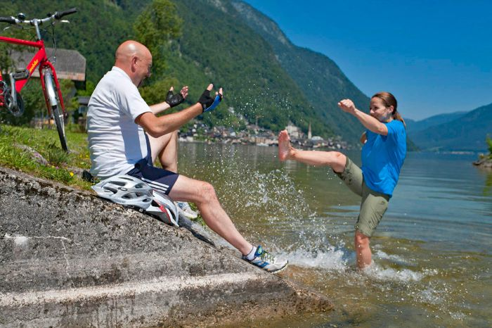 Fun at Lake Hallstatt