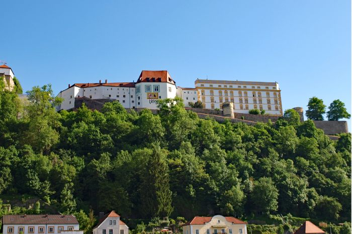 View to Fortress Veste Oberhaus in Passau
