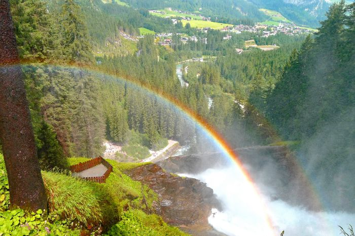 Rainbow in front of the waterfalls