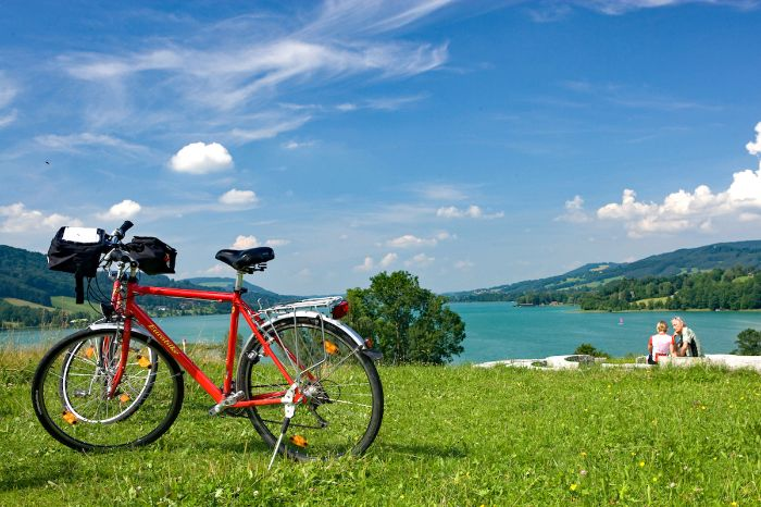 Eurobike in front of Lake Irrsee