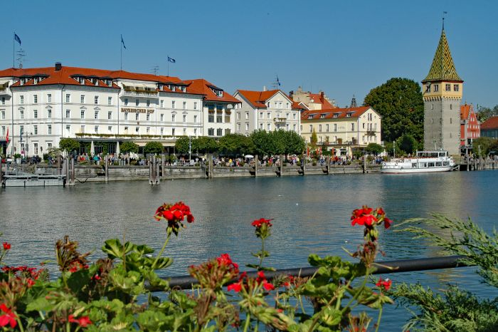 View to the port of Lindau