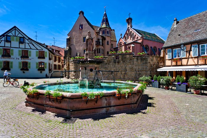 Fountain in Eguisheim