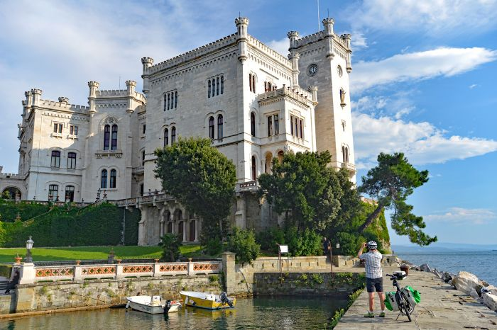 Castle Miramare at the sea