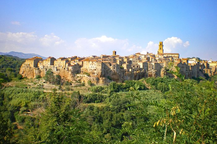 View over Pitigliano