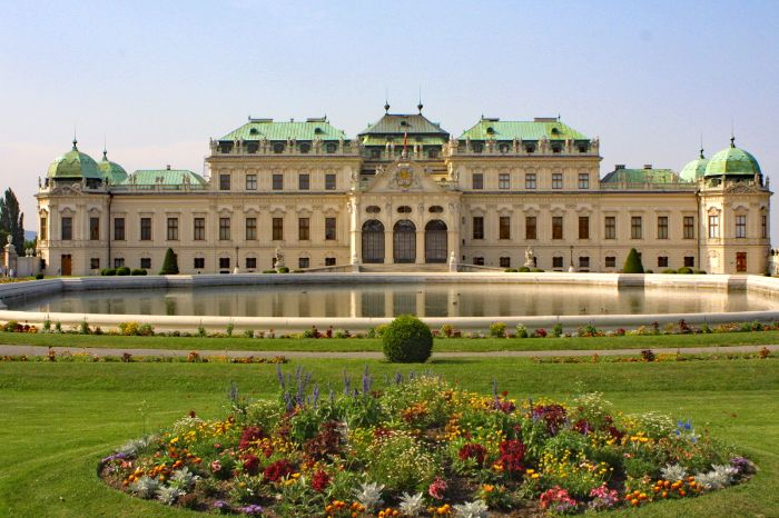 View to Castle Belvedere in Vienna