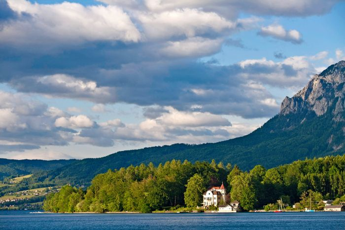 Little castle at the bank of Lake Attersee