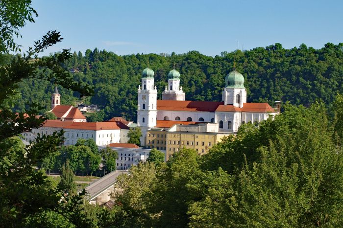 View over the St. Stephan cathedral in Passau