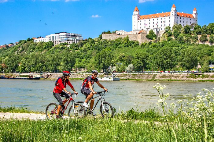 Cyclists - Danube Cycle Path